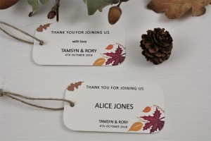 Autumn Fall Favour / Place Tags