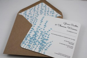 Floral Stems Evening Invitation - Basic