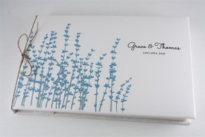 Floral Stems Guest Book