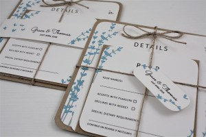 Floral Stems Wedding Invitation