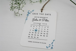 Floral Stems Save the Date