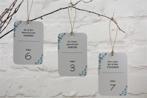 Floral Stems Table Escort Tags